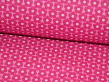 Baumwollstoff Baumwolle Stoff Meterware Blumen Blümchen pink rosa 160/50cm