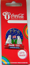 LONDON 2012 OLYMPICS COCA COLA POLAR BEARS COLDPLAY PIN BADGE RIO