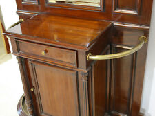 Mahogany Dutch Hall stand with mirror and brass hardware