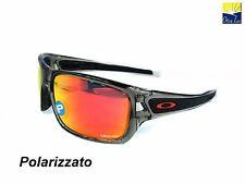 OAKLEY TURBINE 9263 10 GREY INK RUBY IRIDIUM POLARIZED Sunglass Sole occhiali