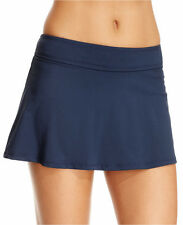 Anne Cole Navy Banded Skirted Bikini Swimsuit Bottom L Large NWT NEW $50