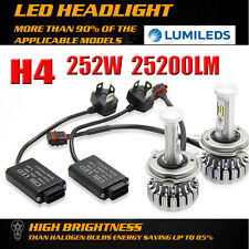 252W 25200LM PHILIPS LED Headlight H4 9003 HB2 Hi/Low Combo Bulb 6000K Canbus