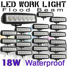 "20X Slim 6"" 18W Flood LED work light Fog Driving lamp vehicle bar Truck 12V 24V"