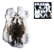 6 NATURAL SPOTTED GENUINE RABBIT SKIN new solf  hide fur pelt craft skins bunny