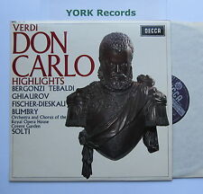 SET 353 - VERDI - Don Carlo highlights SOLTI / BERGONZI / TEBALDI - Ex LP Record