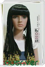 Fashion Sweet Lady Women Hair Full Wig Cos Egypt Queen Cleopatra Party Costume