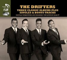 The Drifters THREE CLASSIC ALBUMS +SINGLES & BONUS TRACKS Rock 'N' Roll NEW 4 CD