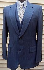 "Men's 70's 3 PC Suit Grey Pinstripe Richman Bros 42L 36""W X 31"" Inseam British"