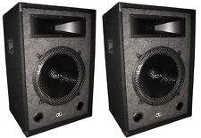 "Pair of GLI PRO XL1540 15"" 1000W PA Speaker Systems w/15"" Subs+XXL Piezo Horns"