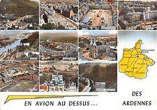 BR7304 En avion au dessus des Ardennes map cartes geographiques  france