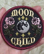 Embroidered Sew Iron On Patches Moon Child Goddess Badge Fabric Applique Craft