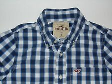 Hollister blue checks shirt - small mens - S3983