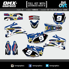 YAMAHA YZF 250 YZF 450 4-stroke decals graphics stickers kit 2008 TT