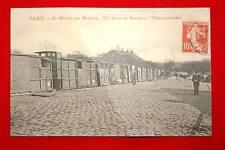 PARIS LE MARCHE AUX BESTIAUX TRAIN DE BESTIAUX L'EMBARQUEMENT 1911 ILE DE FRANCE