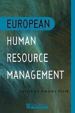 European Human Resource Management (1996, Paperback)