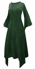 LONG green MEDIEVAL PRINCESS DRESS 22 24 party mystic fae boho wicca bridal 2XL