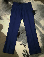 YD CASUAL PANTS MENS BLUE LONG WORK OFFICE DATE SZ 32 GUY SLIM FIT NEW STYLE