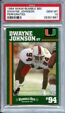 DEWAYNE JOHNSON * 1994 MIAMI BUMBLE BEE PERFORATED * ROOKIE * PSA 10
