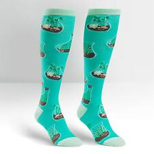 Sock It To Me Women's Funky Knee High Socks - Terrific Terrarium