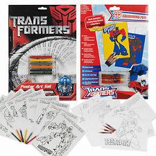 16 Transformers Carteles marcador Lápiz Arte Colorear Set De Juegos Para Niños Regalo De Navidad Kit