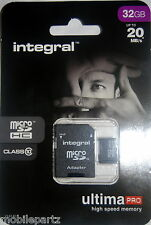 Integral 32GB Class10 MicroSD Phone Memory Card for Motorola G, X & Razr i, HD