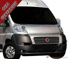 FIAT DUCATO 250 01-16 - CHROME Kit Front Grille Covers 3M Trim Tuning 6 PCS New!