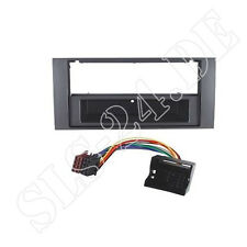 Ford Focus II Transit Connect ISO Adapter + 2-DIN Radio Blende+Fach dunkelsilber