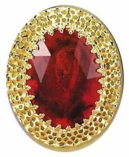 Big Ruby Ring Queen Medieval Renaissance Treasure Accessory Costume Jewelry