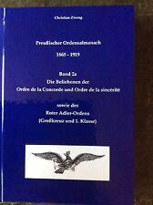 Ordensalmanach Ordensliste Rangliste Roter Adler Orden