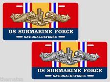 SUBMARINE FORCE NATIONAL DEFENSE SERVICE RIBBON  LICENSE PLATE USA MADE
