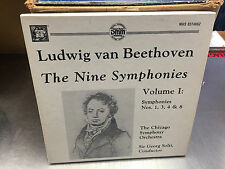 BEETHOVEN Nine Symphonies Volume I 3x LP BOX MHS Direct Metal Mastering SOLTI