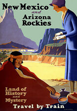 New Mexico - Arizona Rockies - Railway Travel Vacation A3 Art Poster Print