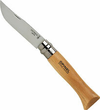 "Opinel No. 8 Stainless Steel 8.5cm 3.45"" Beechwood Handle Folding Knife 123080"