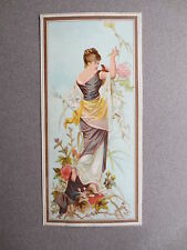 Bookmark Vintage EDWARDIAN Lady with Flowers OLD