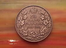 1908 1998 Canada Sterling SIlver Half Dollar Special RCM Issue Antiqued Variety