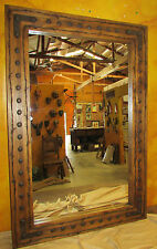 Bathroom Vanity Rancho Adobe Mirror-Wood-30x45-Rustic-Cowboy-Clavos-Western