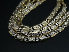 "14k Solid Gold  24"" Strong Heavy Scroll Link Chain 16.7grams"
