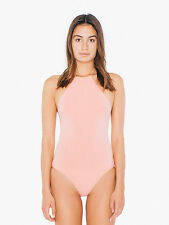 American Apparel Coral Pink Cheeks Halter High Neck Bodysuit XXS or XS (petite)