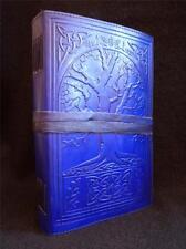 Fait main bleu en cuir journal diary-celtique Arbre de Vie-papier unlined