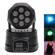 New 7 RGB 4 in 1 LED Mini DMX512 Club Party Ligthing Moving Head Stage light