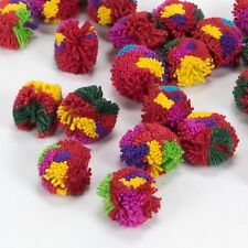 Hmong Hill Tribe Handmade Cotton Yarn Haystack Pom Poms Multicolor Craft x 100