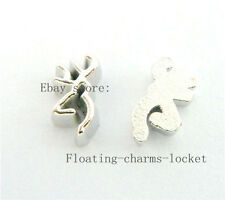 10pcs deer head Floating charms For Memory Glass Locket FREEshippingFC172