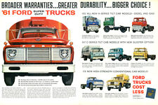 VINTAGE 1961 FORD COMMERCIAL TRUCK AD POSTER PRINT 24x36