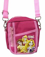 Disney Princess Pink Camera Pouch Bag Wallet Purse with Shoulder Strap