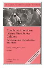 Examining Adolescent Leisure Time Across Cultures: Developmental Opportunities a