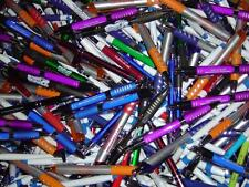 Wholesale Lot of 500 Misprint Ink Pens Ball Point Plastic Retractable Pens Mixed