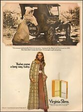 1970 Vintage ad for Virginia Slims`Sexy Model retro car 70's Fashion Blonde