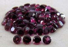 A PAIR OF 4mm ROUND-FACET NATURAL AFRICAN RHODOLITE GARNET GEMSTONES