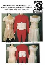 Laughing Moon Under Bust Corset Sewing Pattern #113 Ladies size 4-36, Mens 22-64