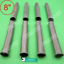 "Brand New Gray 8"" Sundely Spark Plug Wire Boot Heat Shield Insulator 8-Pcs"
